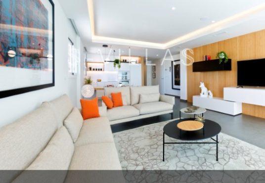 Blue Infinity living room