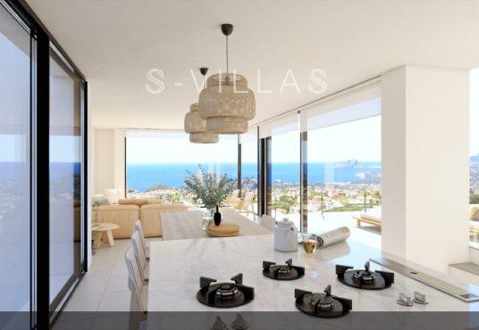 Magnolias Sunrise living room with seaview