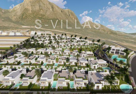 Polop Hills Villa Augusta urbanisatie droneview
