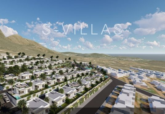 Polop Hills Villa Marina urbanisatie droneview twee