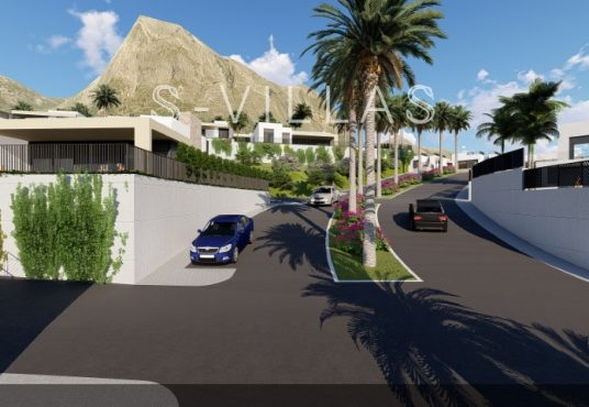 Polop Hills Villa Marina urbanisatie straat