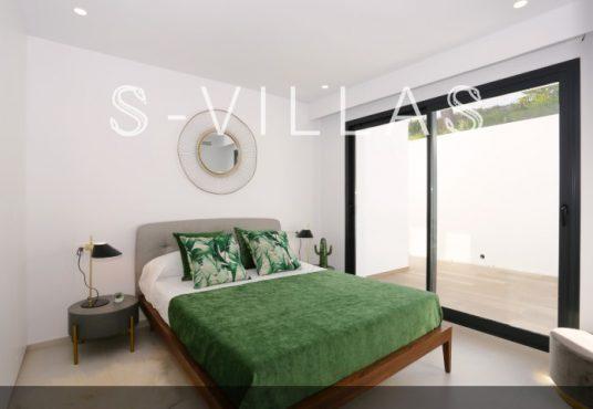 Villa in Ibiza stijl in Denia slaapkamer