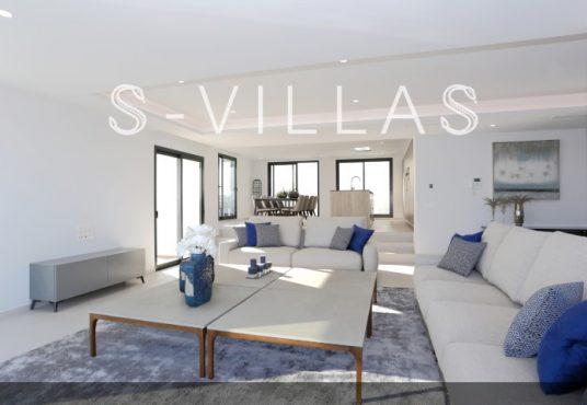Villa in Ibiza stijl in Denia woonkamer