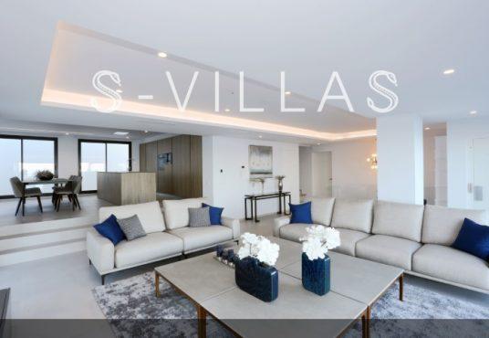 Villa in Ibiza stijl in Denia woonkamer en keuken b