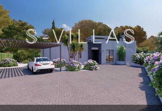 La Fustera villa te koop carport