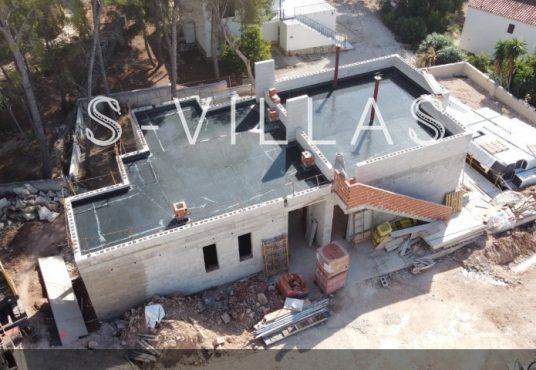 La Fustera villa te koop werf drone