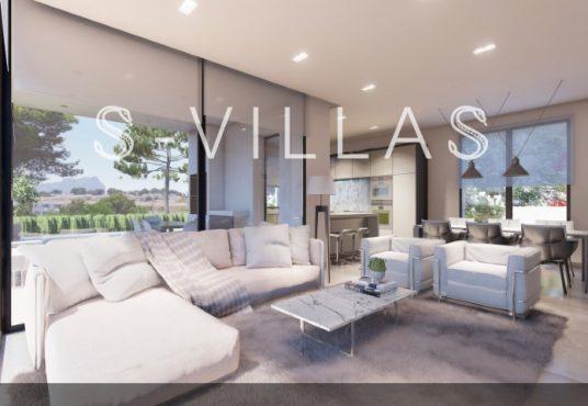 La Fustera villa te koop woonkamer